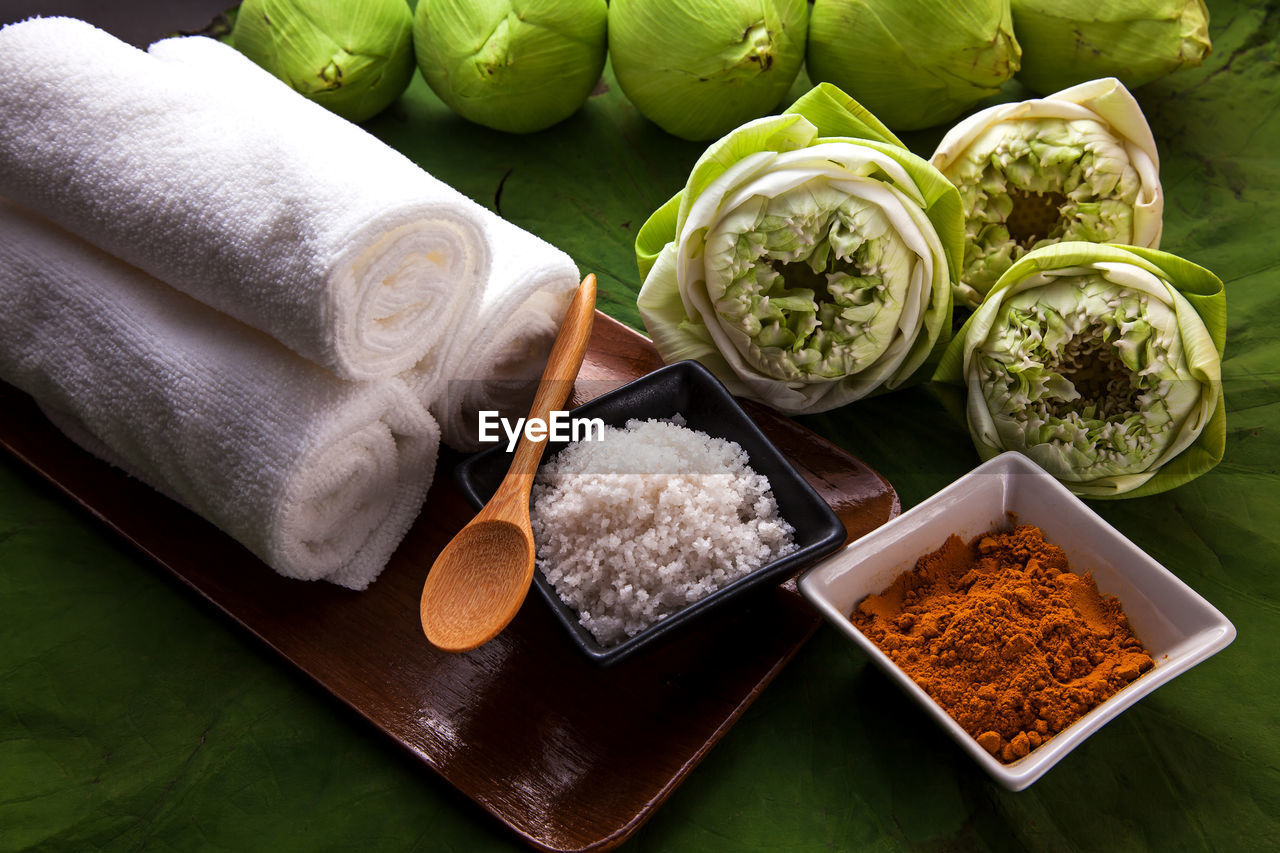 food and drink, food, freshness, vegetable, no people, healthy eating, bowl, indoors, still life, choice, high angle view, variation, ingredient, spice, wellbeing, raw food, pepper, chili pepper, table, arrangement, leaves, tray