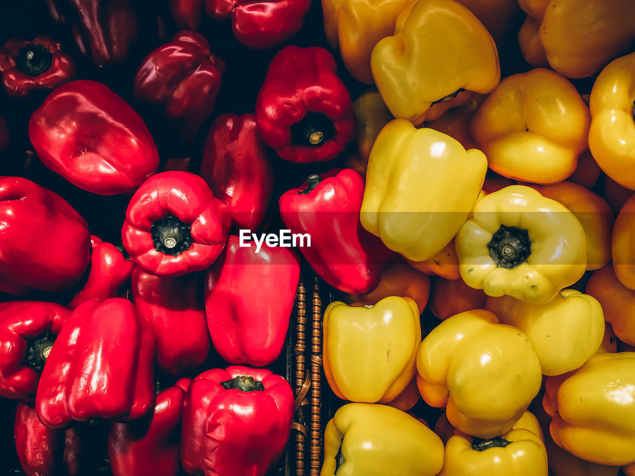 FULL FRAME SHOT OF RED BELL PEPPERS FOR SALE