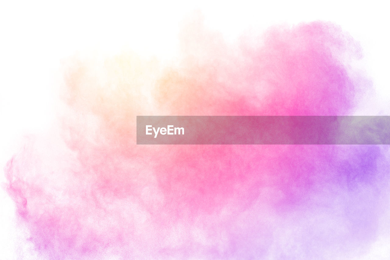 pink color, multi colored, no people, backgrounds, abstract, creativity, softness, motion, smoke - physical structure, white color, sky, purple, cloud - sky, nature, abstract backgrounds, outdoors, art and craft, close-up, vibrant color, beauty in nature