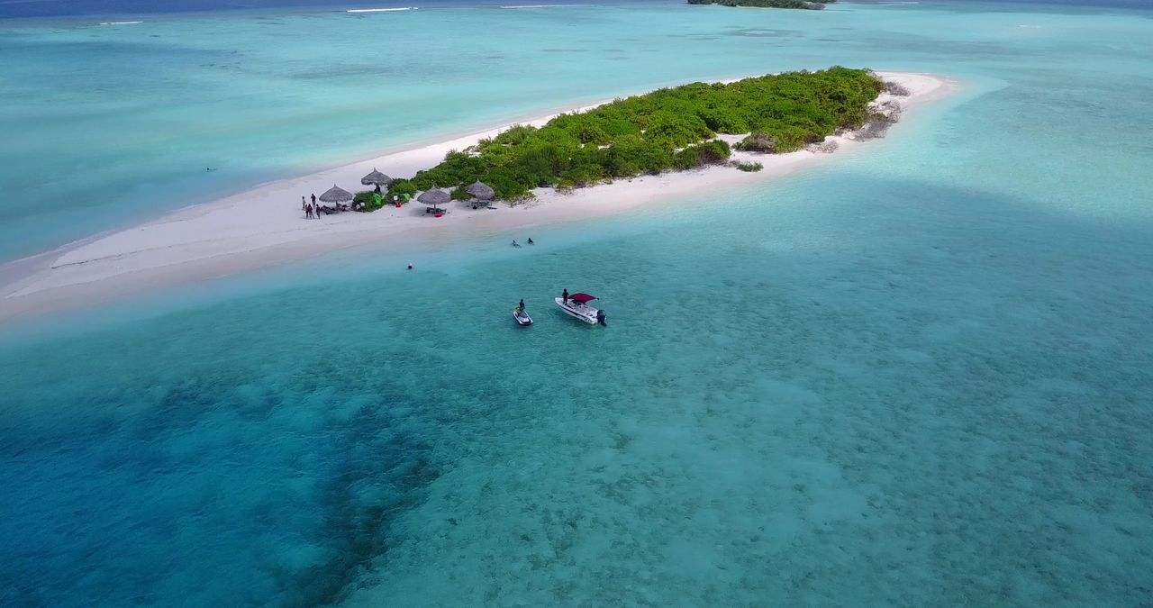 High Angle View Of Island