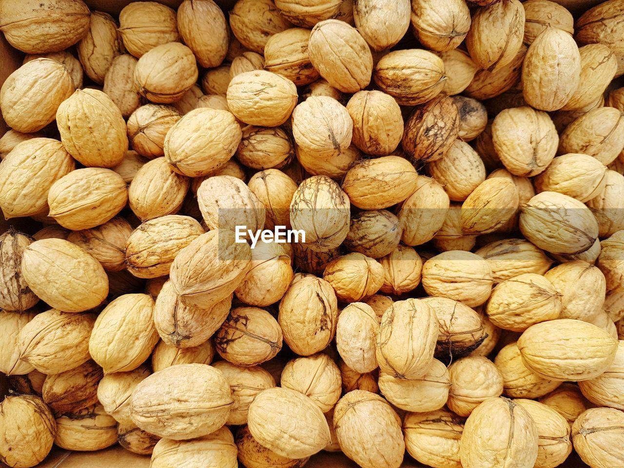 Full frame shot of walnuts