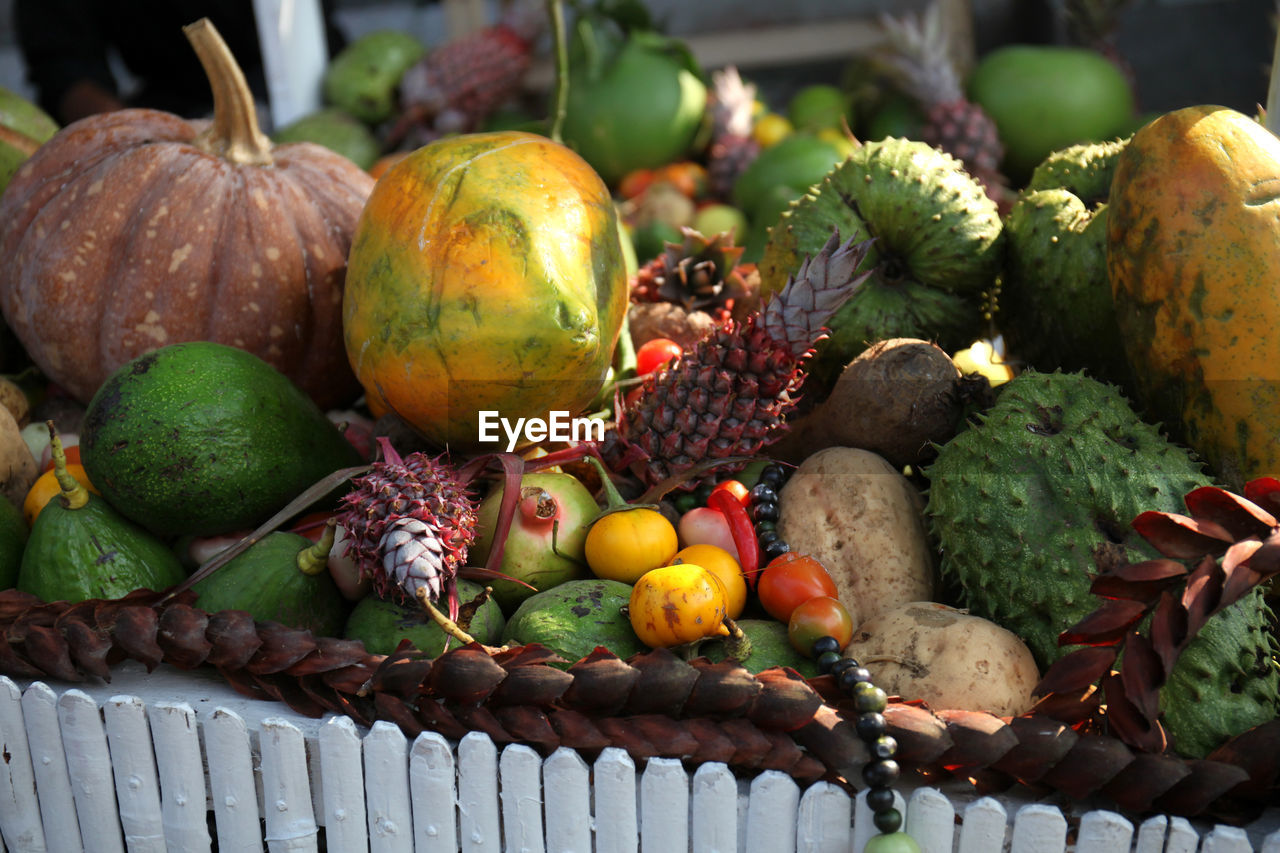 Various fruits and vegetables for sale