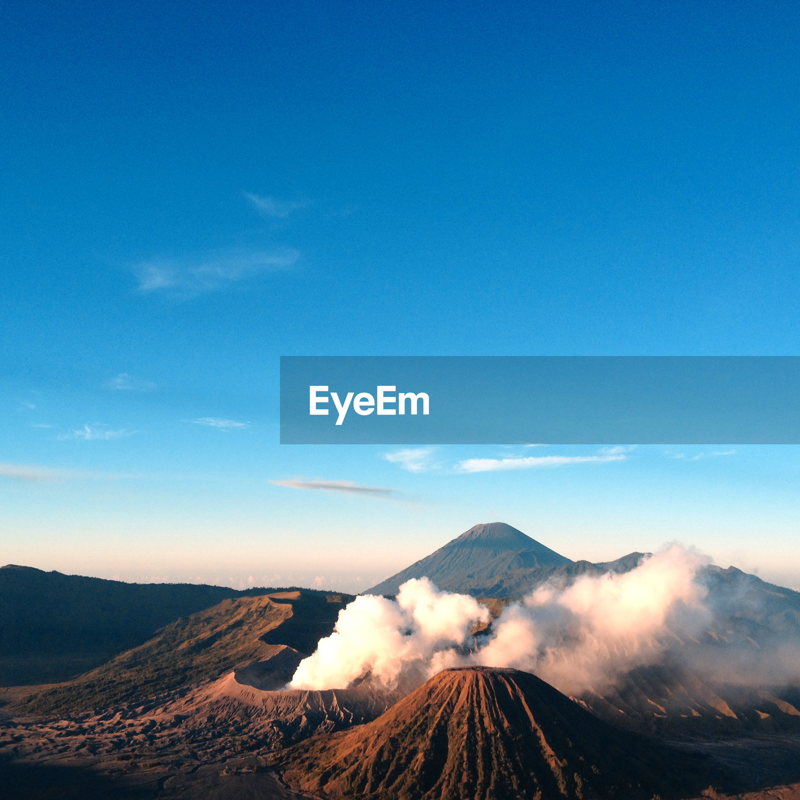 View of mt bromo against blue sky