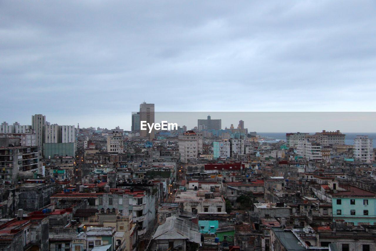 Havana Cityscape Against Cloudy Sky