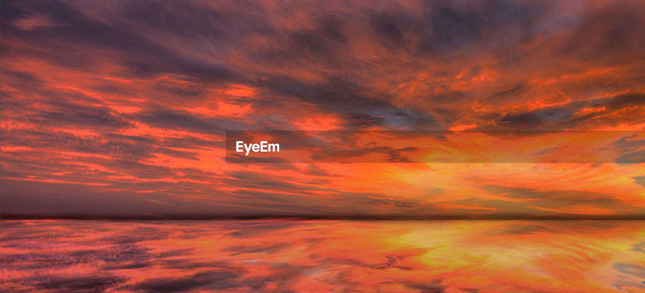 cloud - sky, sky, orange color, beauty in nature, sunset, dramatic sky, no people, scenics - nature, red, nature, water, cloudscape, tranquility, backgrounds, beauty, outdoors, awe, idyllic, environment, romantic sky, meteorology, bright