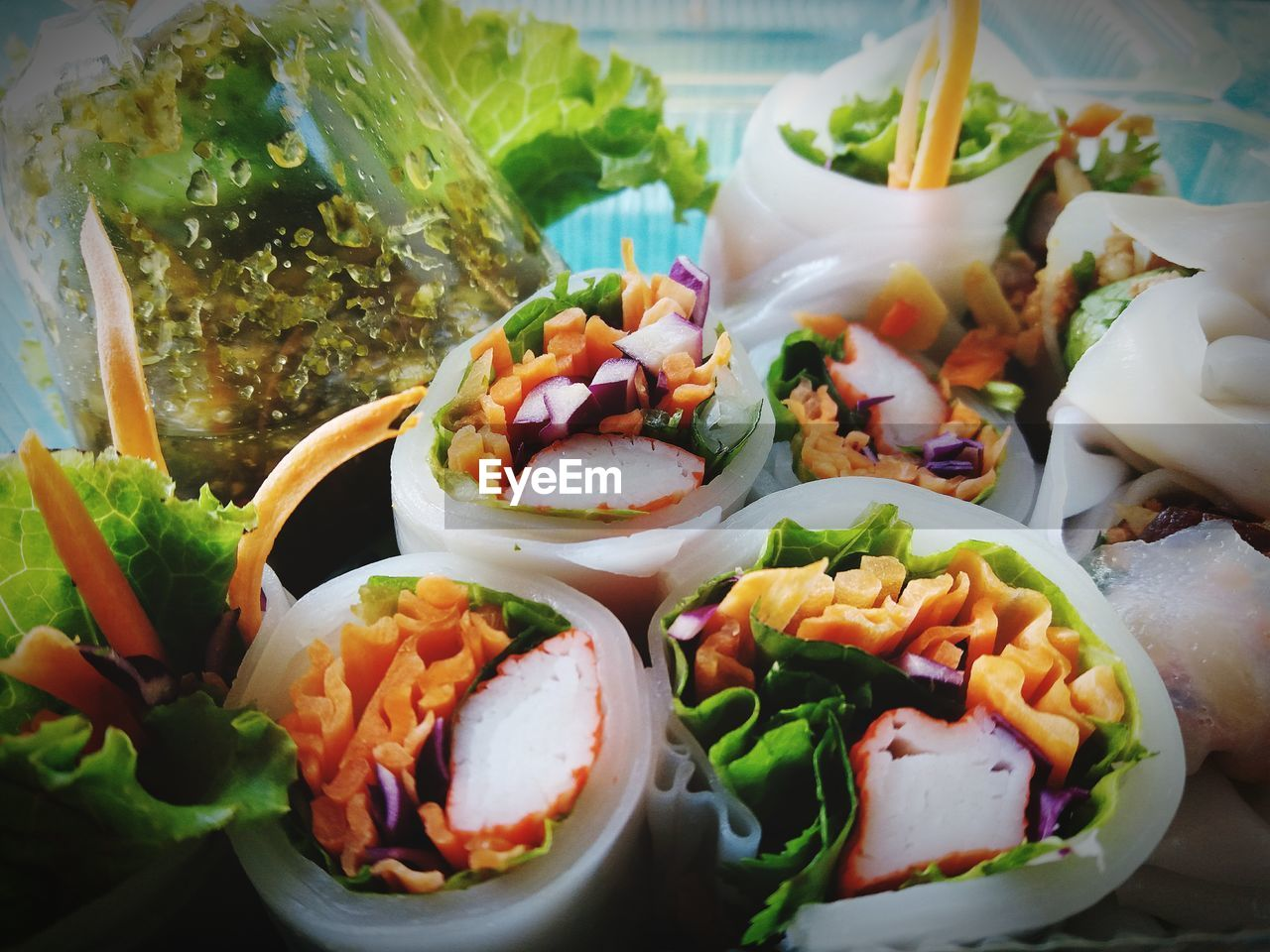 High angle view of food