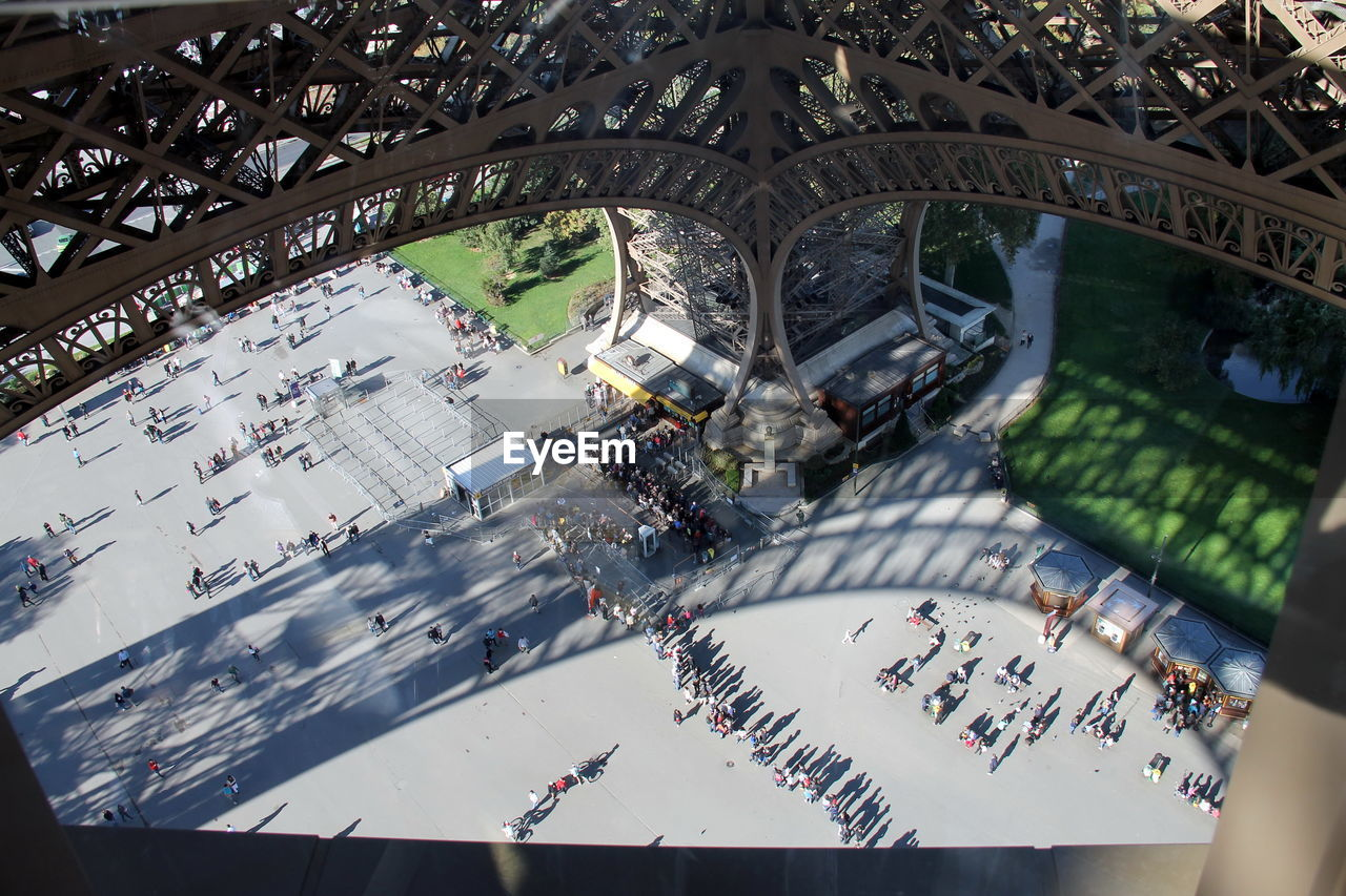 High Angle View Of People Walking Outdoors