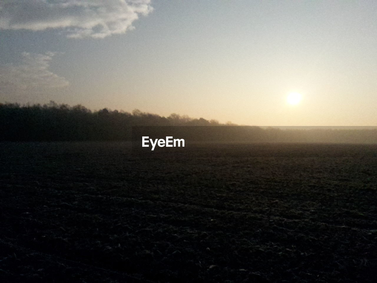 landscape, tranquility, field, nature, tranquil scene, sun, agriculture, scenics, beauty in nature, no people, sunset, outdoors, sunlight, sky, rural scene, growth, day, tree, plowed field