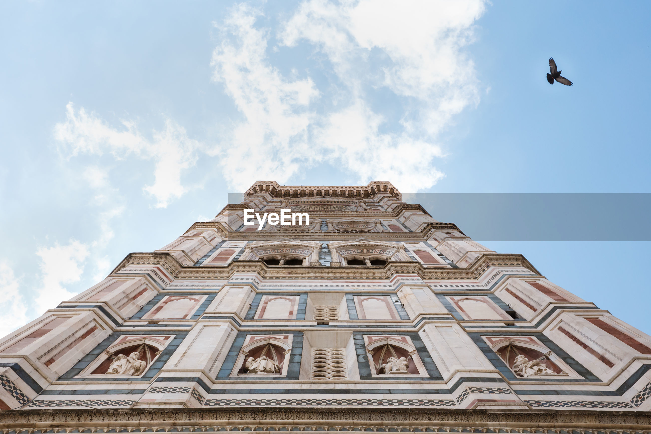 Low angle view of florence cathedral against sky