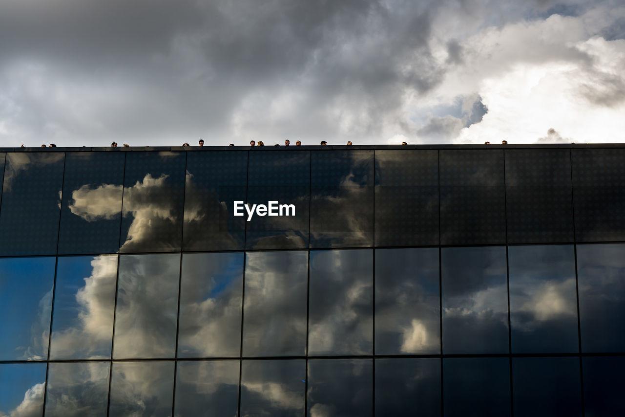 cloud - sky, sky, storm cloud, architecture, day, built structure, no people, outdoors, factory, nature, building exterior