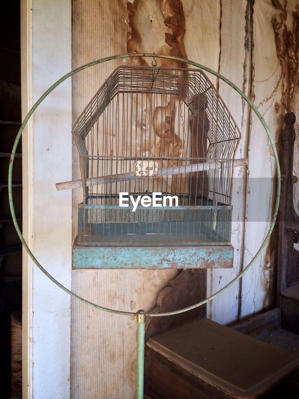 Close-up of a bird cage