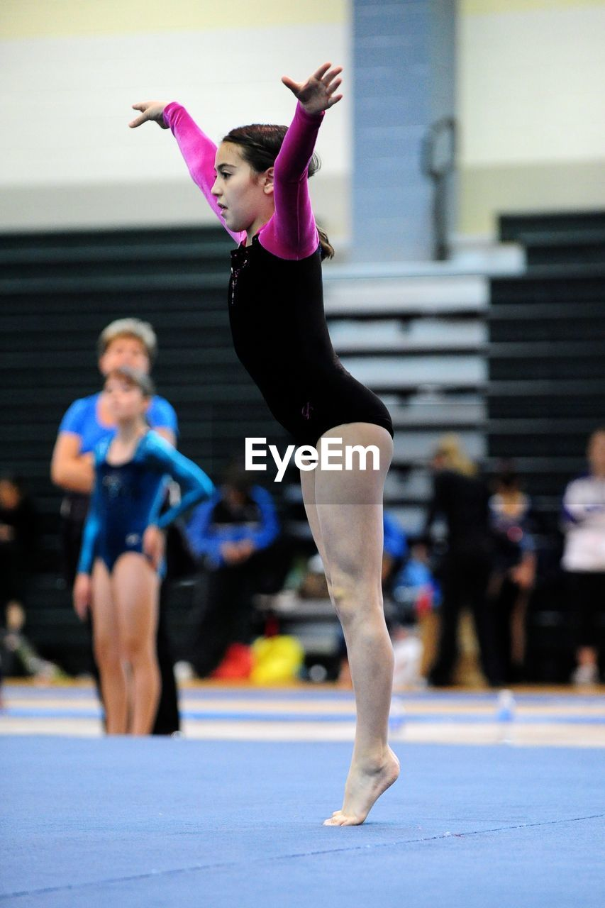 Side View Of A Girl At Gymnasium