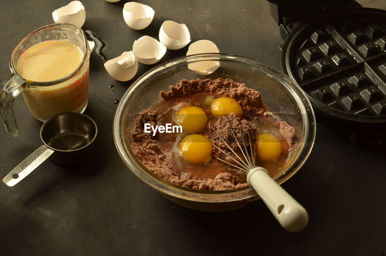 Preparation of dessert