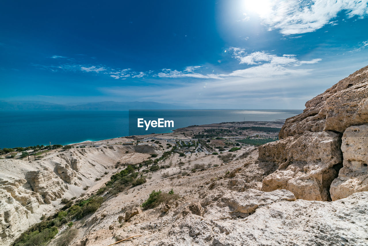 sky, scenics - nature, sea, beauty in nature, cloud - sky, water, tranquil scene, tranquility, rock, horizon, horizon over water, blue, nature, rock - object, solid, day, land, idyllic, beach, no people, outdoors, rocky coastline