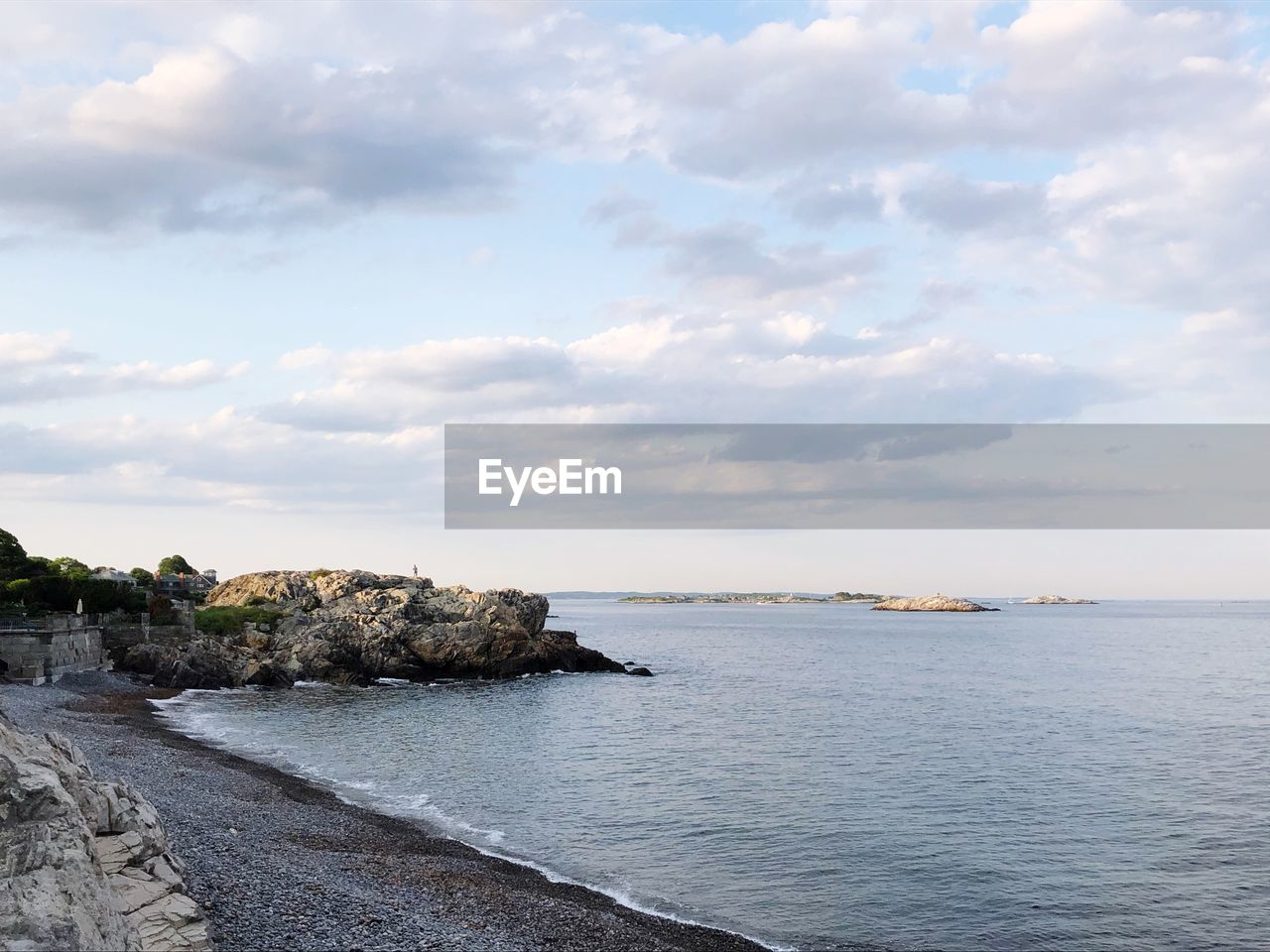 sky, sea, cloud - sky, water, scenics - nature, beauty in nature, tranquility, tranquil scene, nature, horizon, horizon over water, no people, day, architecture, land, rock, beach, built structure, outdoors, groyne