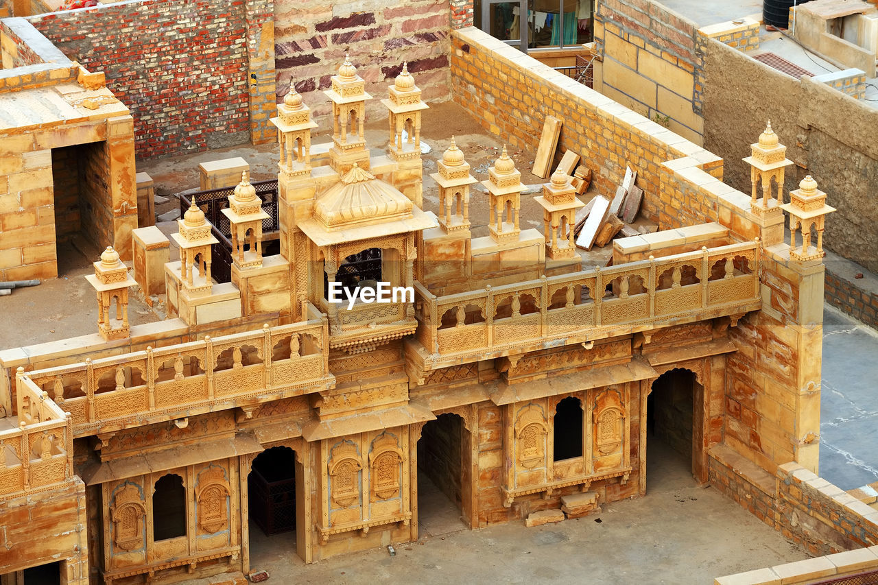 High Angle View Of Jaisalmer Fort Interior