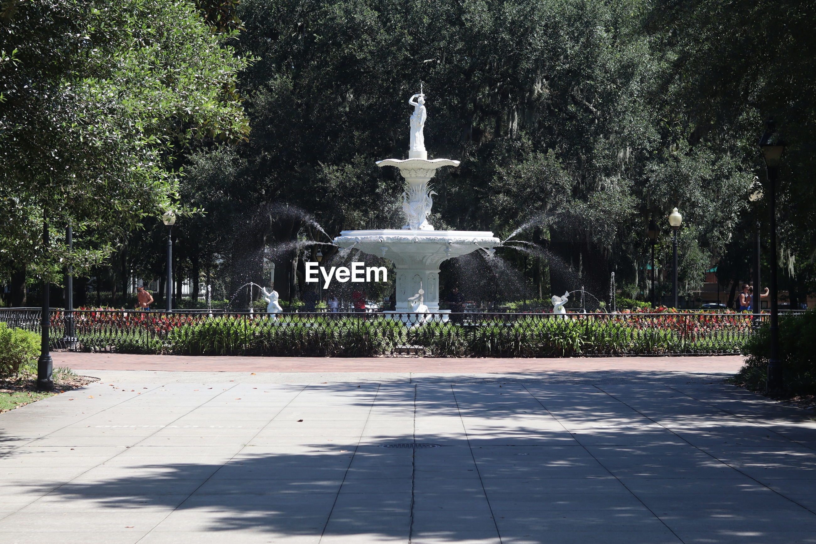 VIEW OF FOUNTAIN AT PARK
