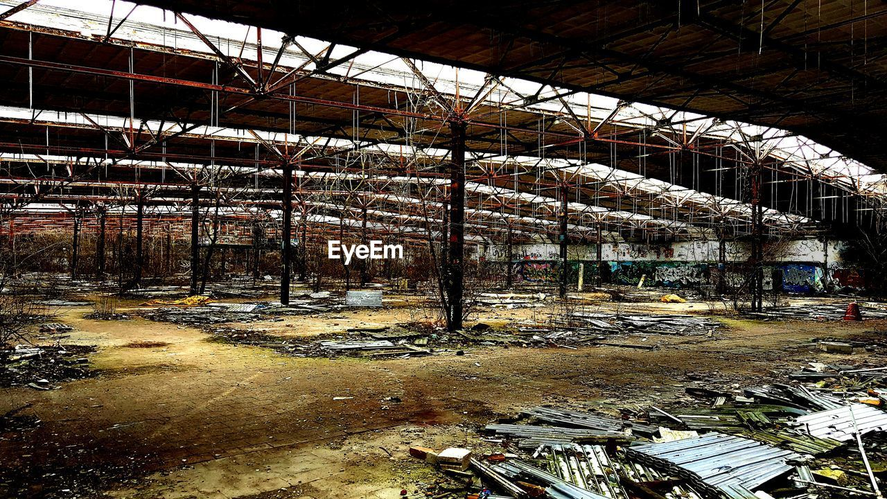 abandoned, indoors, no people, industry, architecture, day, factory