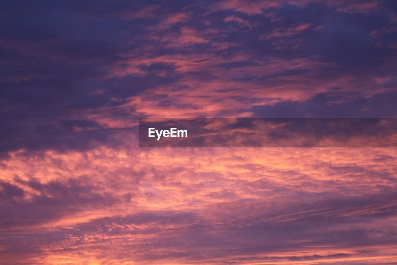 Low Angle View Of Purple Cloudscape