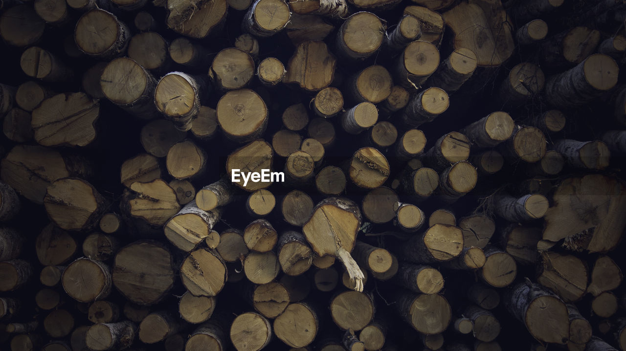 full frame, backgrounds, firewood, wood, log, large group of objects, stack, timber, abundance, lumber industry, wood - material, deforestation, tree, fuel and power generation, forest, no people, heap, environmental issues, pattern, woodpile, outdoors