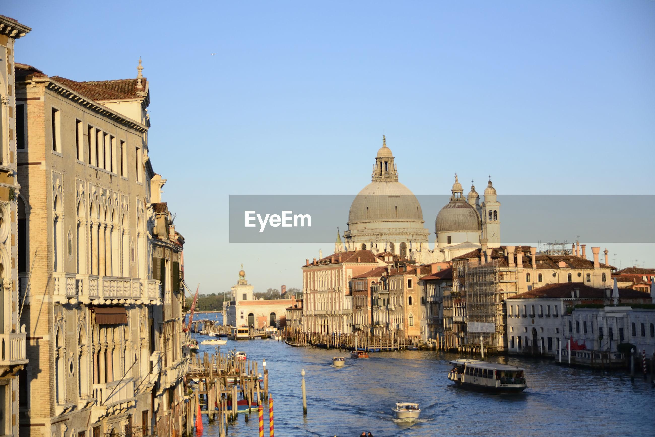 Santa maria della salute by grand canal in city