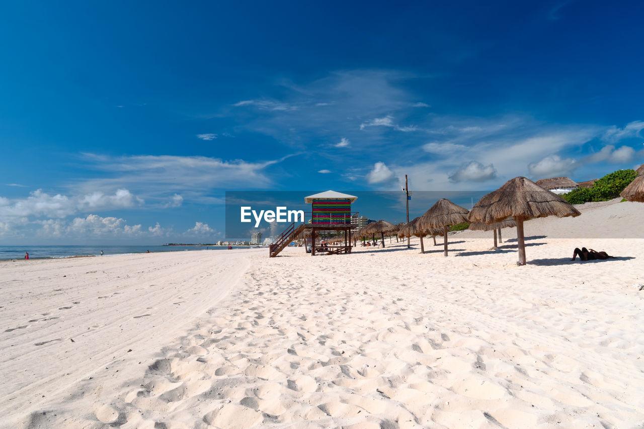 VIEW OF HUT ON BEACH