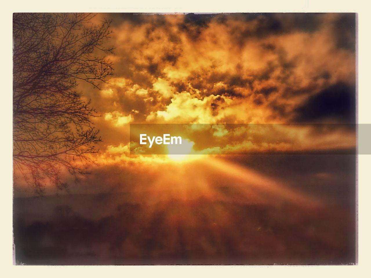 sun, nature, sunset, beauty in nature, sunlight, sunbeam, scenics, tranquil scene, tranquility, idyllic, bright, sky, majestic, outdoors, no people, day, tree