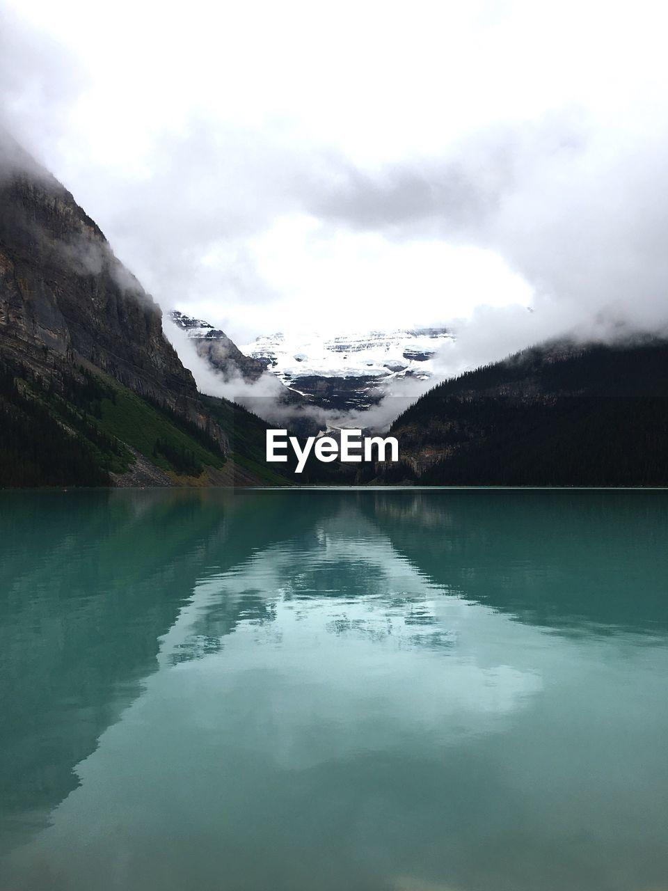 Idyllic view of calm lake