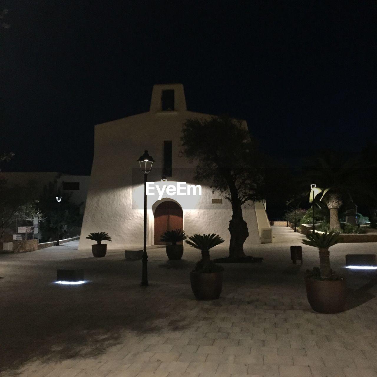 night, illuminated, lighting equipment, architecture, indoors, built structure, no people, building exterior, tree, sky