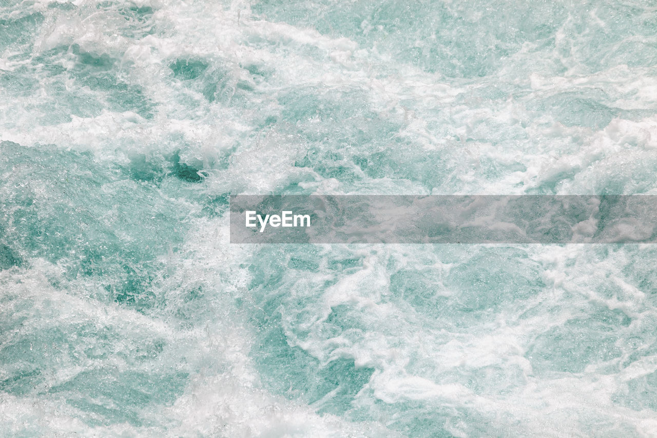 Full frame shot of waves in sea