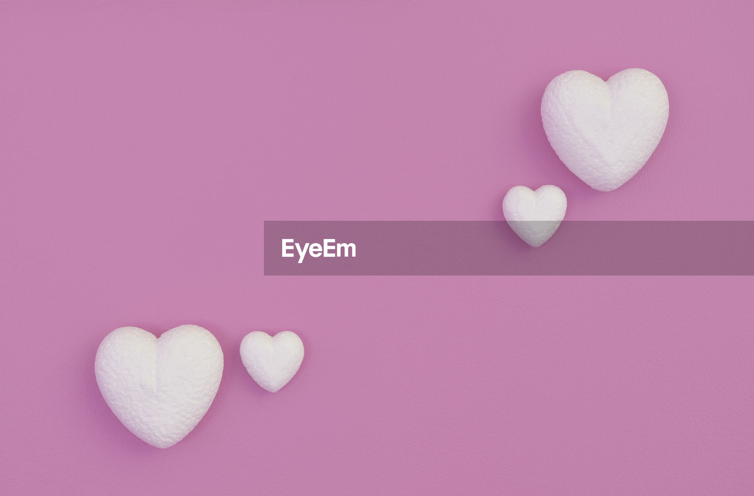 Love hearts on valentines day concept background