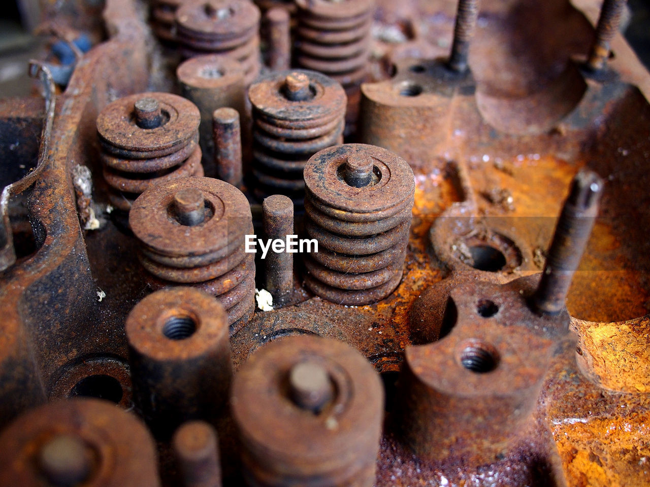 metal, rusty, machinery, bolt, machine part, obsolete, nut - fastener, close-up, decline, old, no people, deterioration, run-down, screw, abandoned, weathered, indoors, work tool, backgrounds, full frame, iron - metal