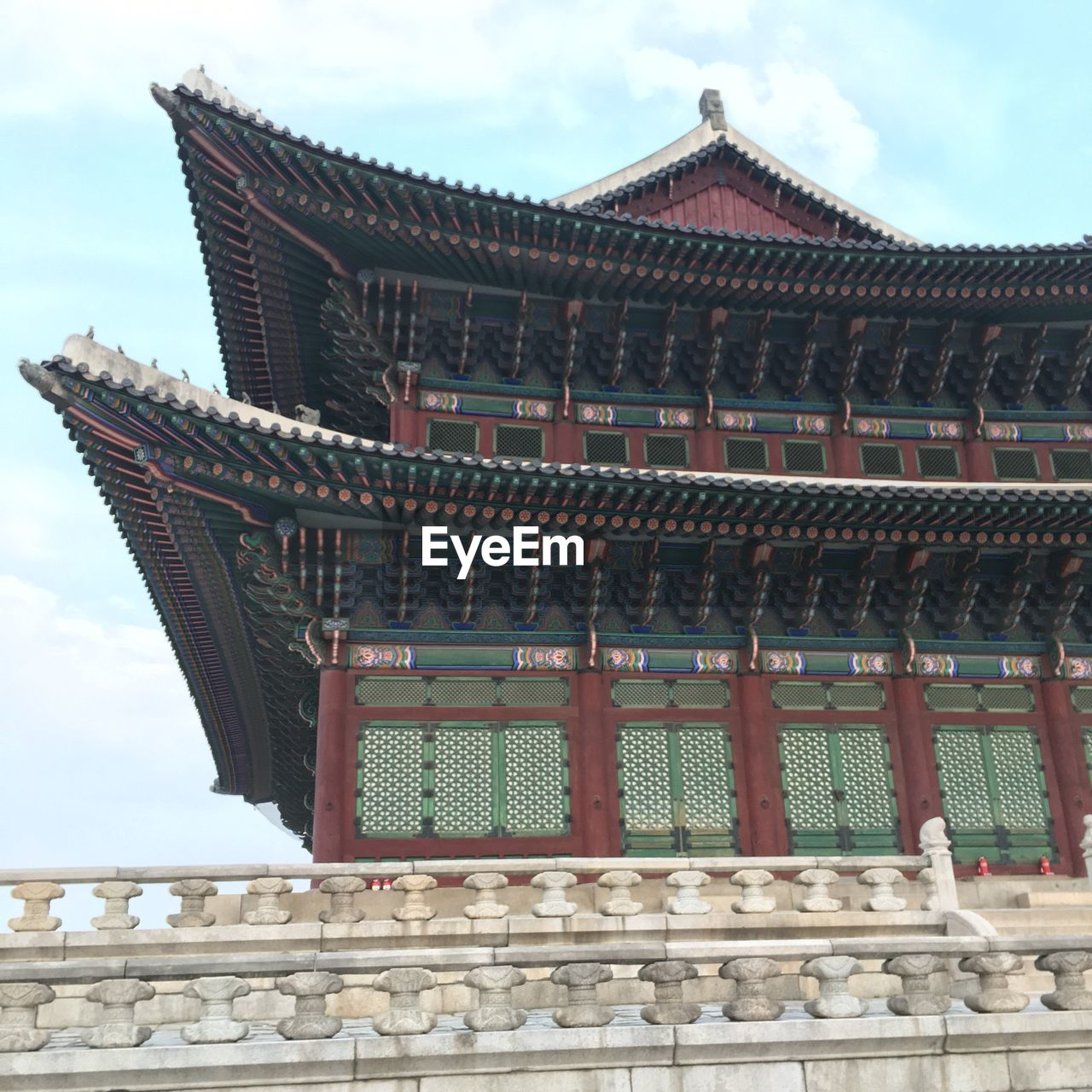 Low angle view of an asian building