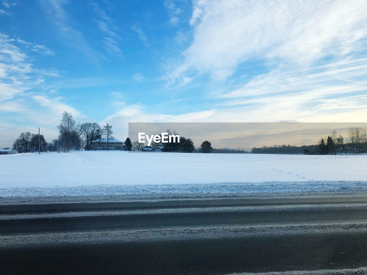 cold temperature, winter, sky, snow, cloud - sky, beauty in nature, tranquil scene, scenics - nature, tranquility, tree, plant, nature, no people, environment, landscape, non-urban scene, day, idyllic, water, outdoors