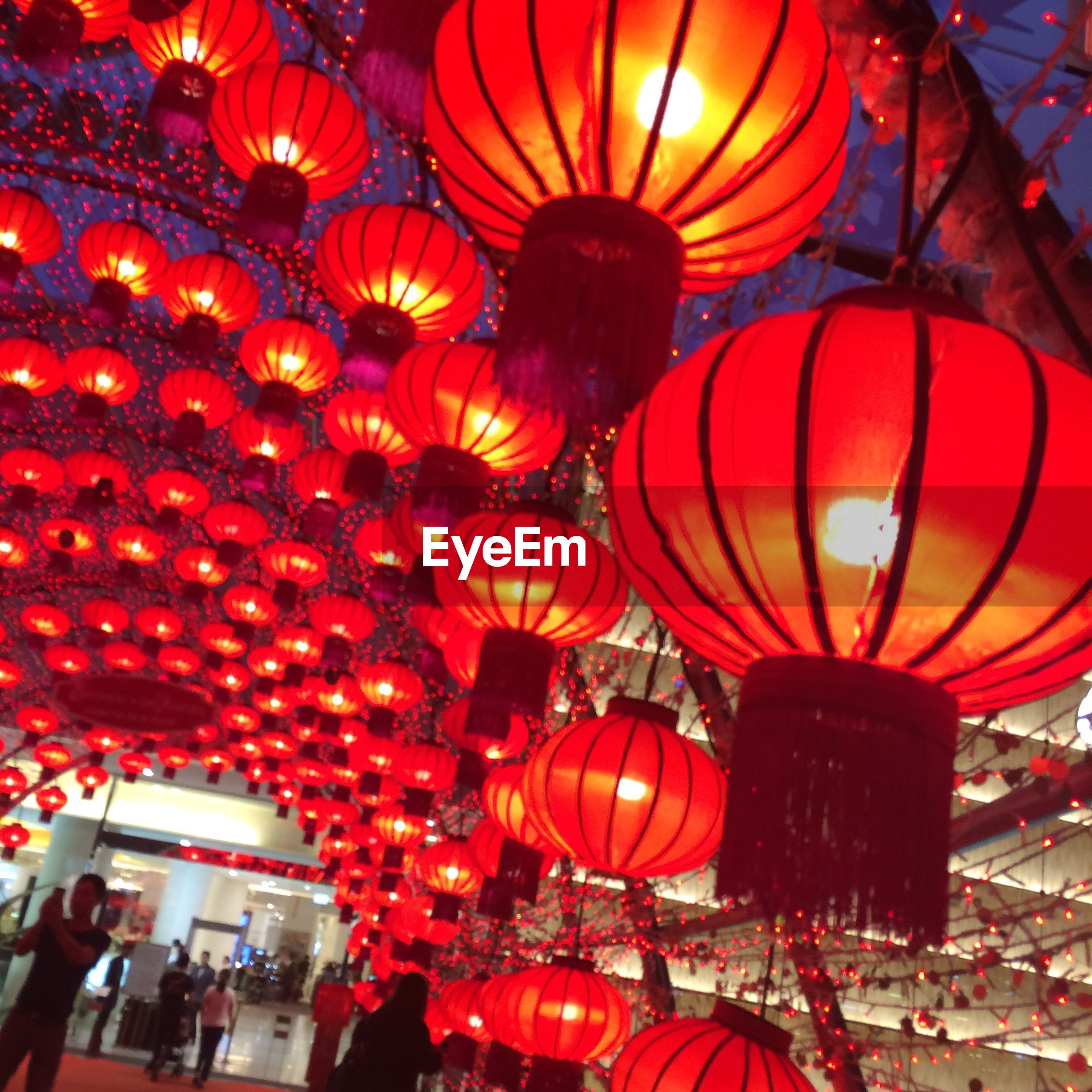 cultures, lantern, hanging, lighting equipment, illuminated, chinese lantern, red, chinese lantern festival, chinese new year, no people, night, indoors