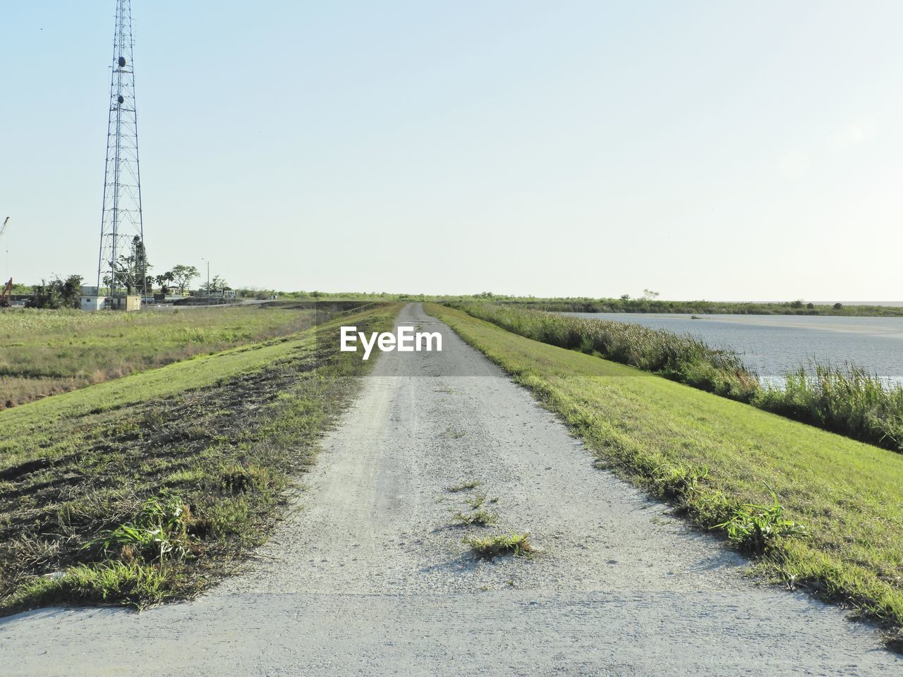 the way forward, direction, sky, transportation, grass, plant, road, diminishing perspective, nature, landscape, day, field, environment, vanishing point, land, no people, clear sky, scenics - nature, copy space, tranquil scene, outdoors