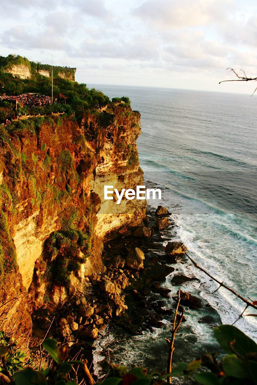 nature, sea, scenics, tranquil scene, tranquility, beauty in nature, water, horizon over water, sky, cliff, no people, outdoors, day