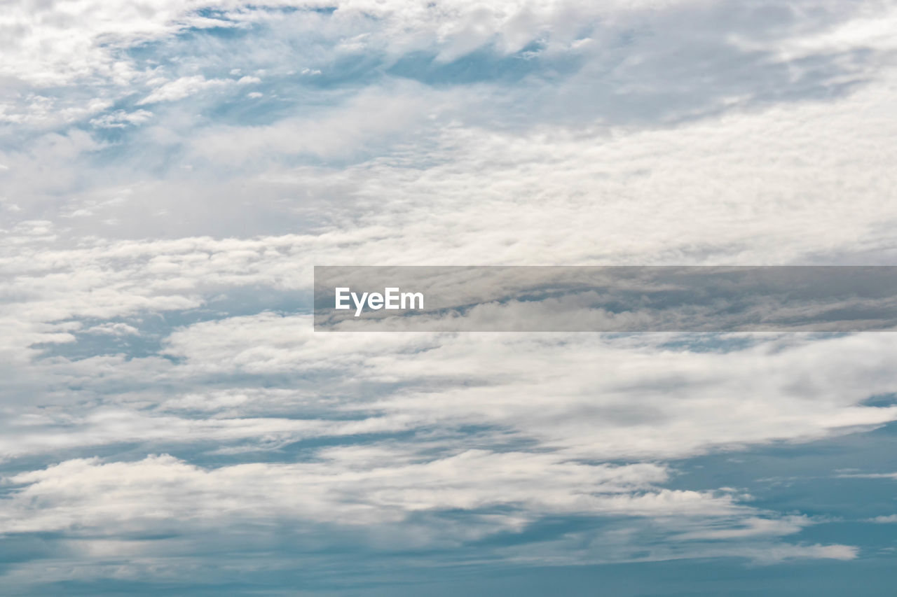 cloud - sky, sky, beauty in nature, scenics - nature, tranquility, low angle view, nature, no people, tranquil scene, day, outdoors, backgrounds, idyllic, white color, cloudscape, full frame, blue, non-urban scene, environment, meteorology
