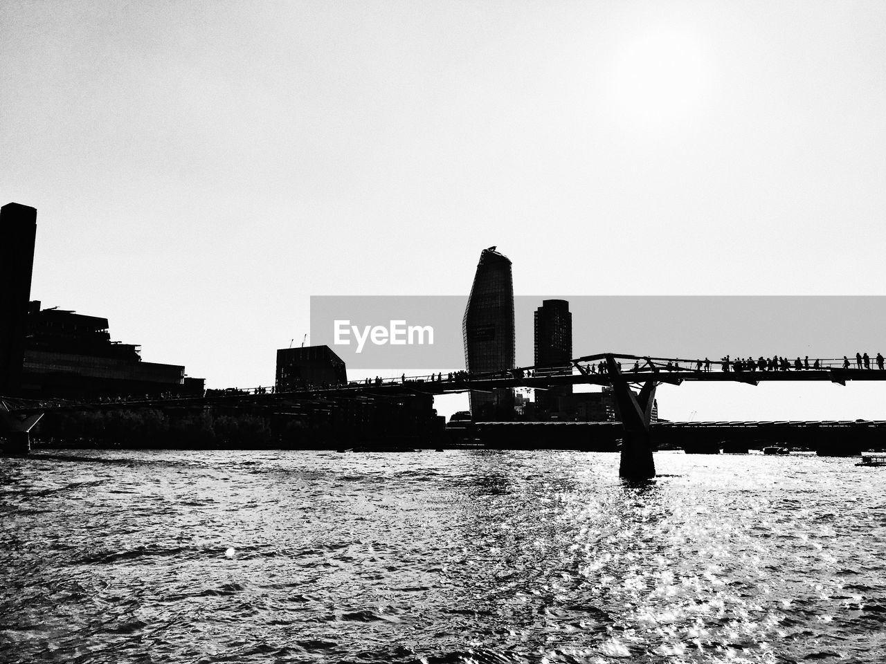 built structure, architecture, sky, water, building exterior, waterfront, copy space, nature, bridge, clear sky, connection, river, day, bridge - man made structure, no people, outdoors, city, transportation