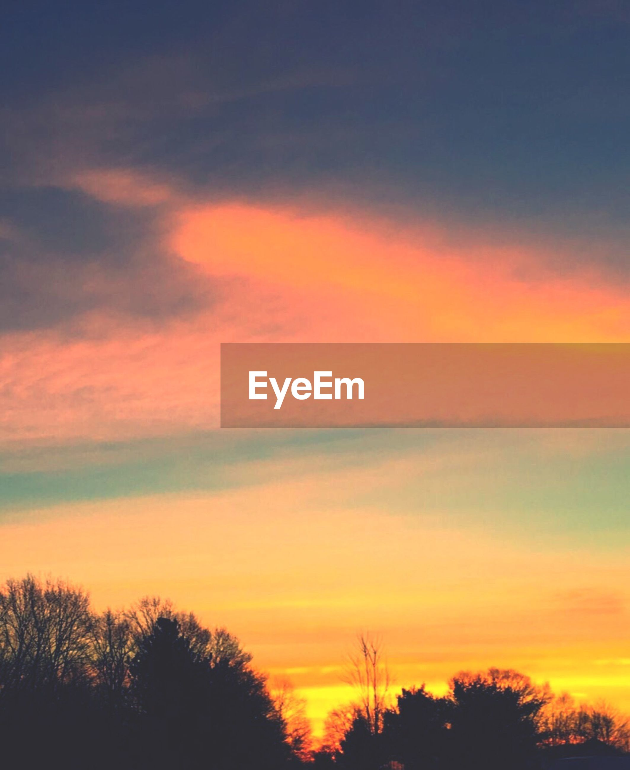 sunset, nature, beauty in nature, sky, silhouette, scenics, orange color, tranquility, tranquil scene, idyllic, tree, dramatic sky, cloud - sky, outdoors, no people