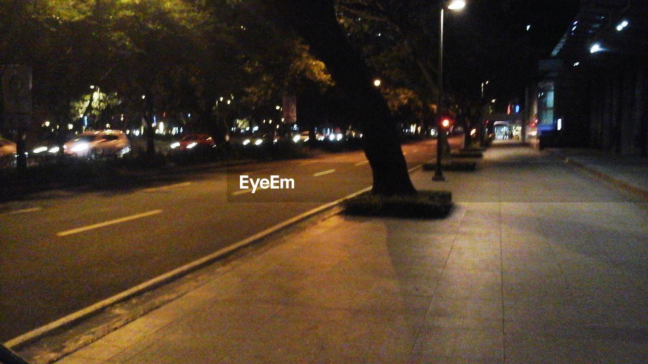 illuminated, night, street, road, transportation, tree, city, outdoors, building exterior, architecture, no people