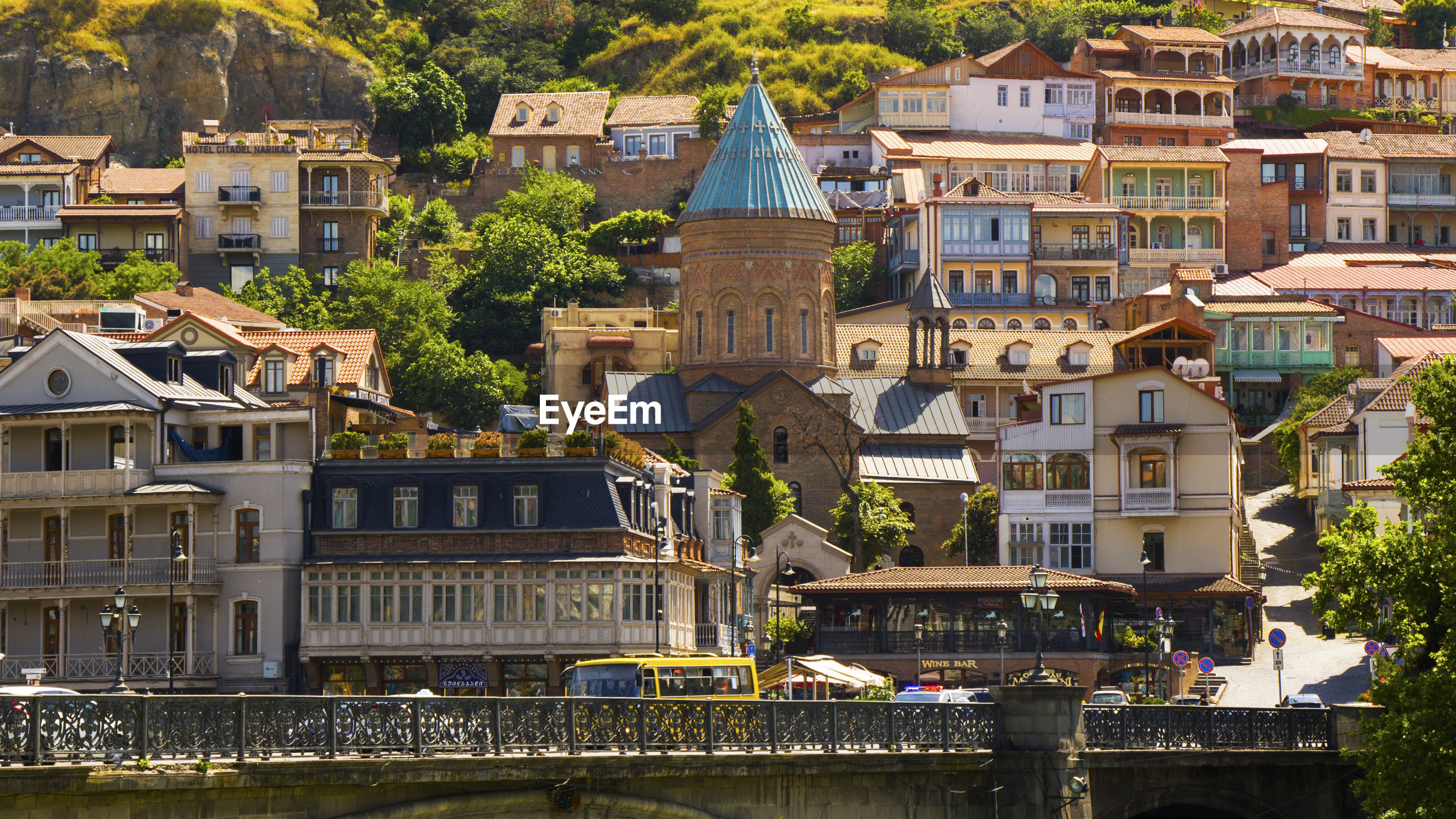 Old town and city center of tbilisi, georgia. famous places and landmarks, hill of narikhala.