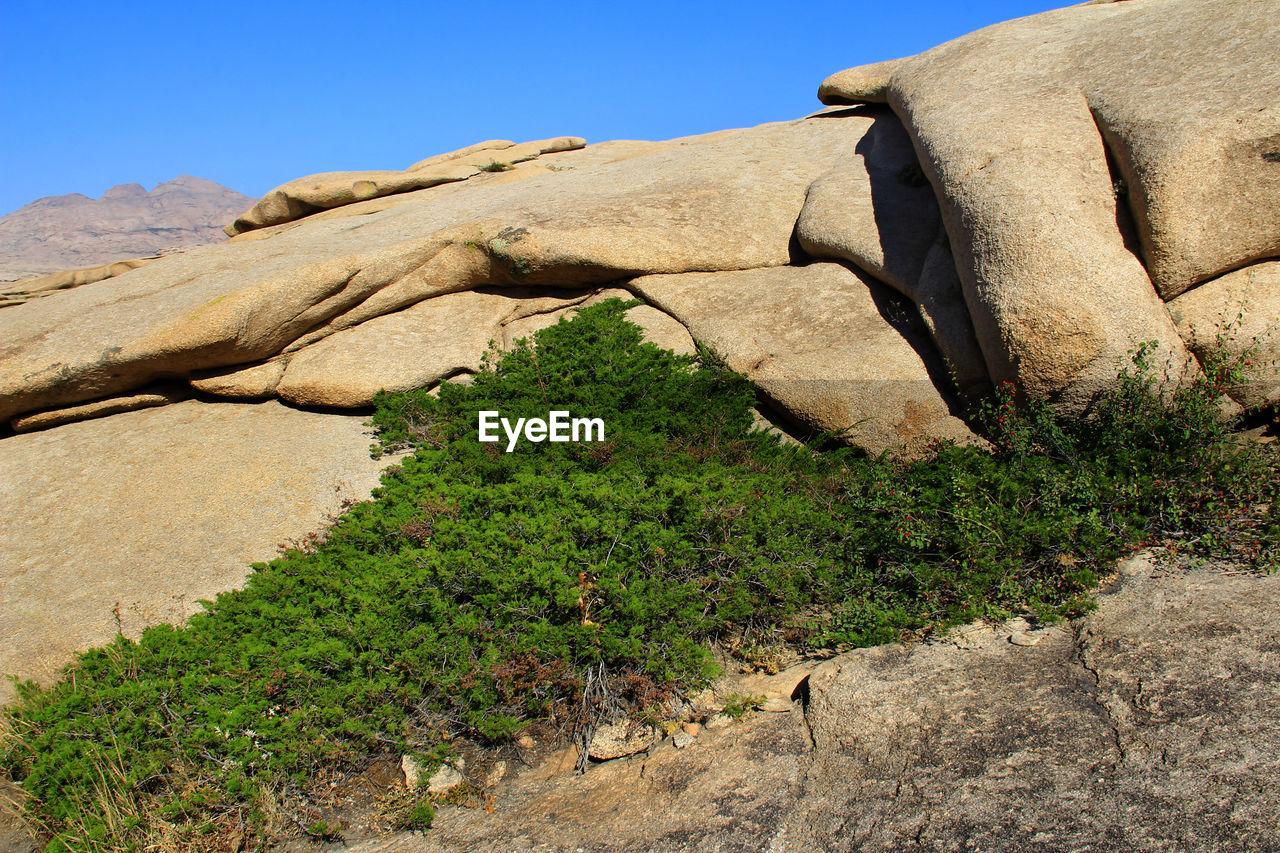 ROCK FORMATIONS ON DESERT