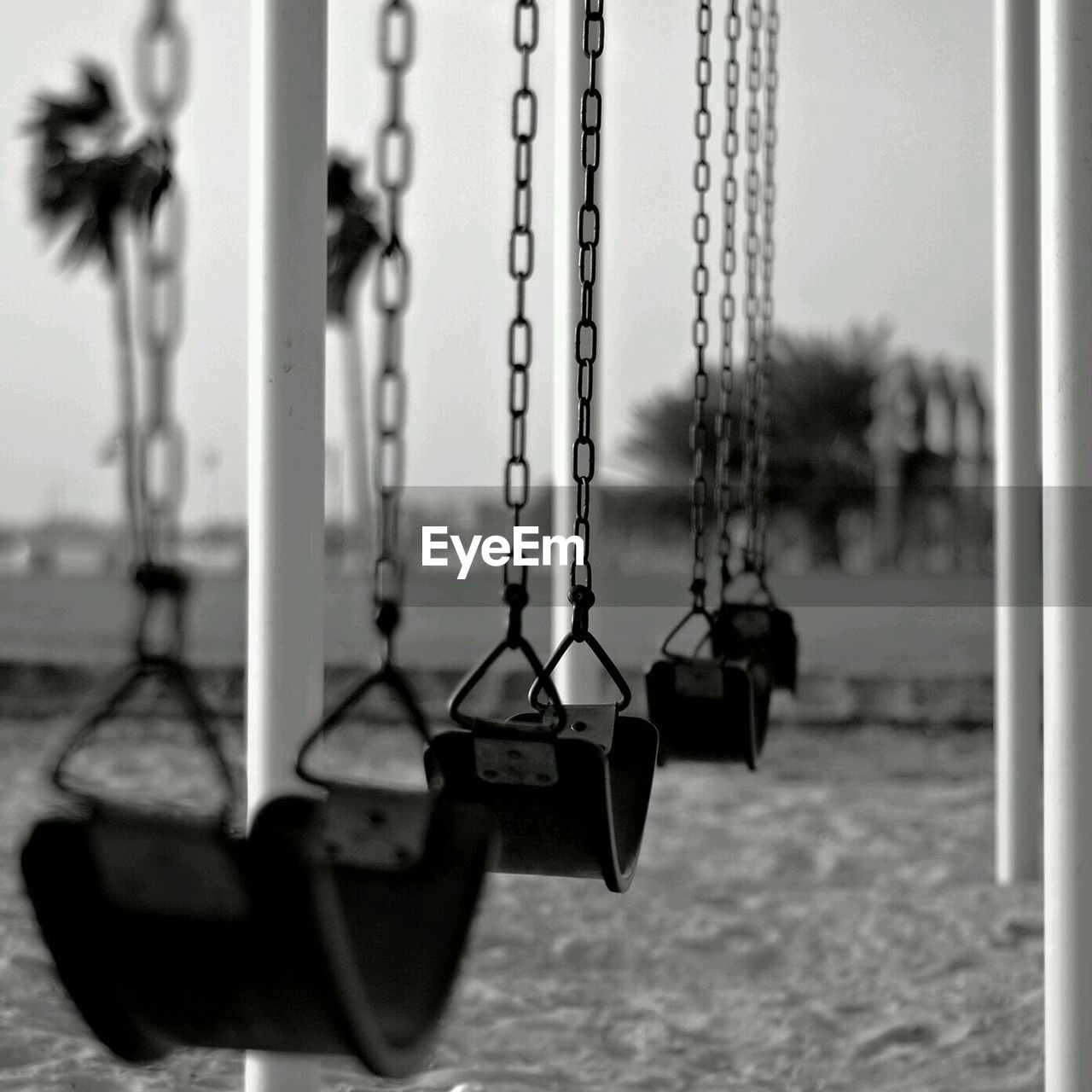 Swings hanging in playground