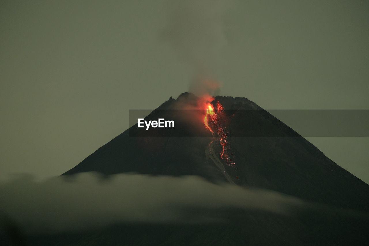 The eruption of merapi mountain, 21 januari 2021