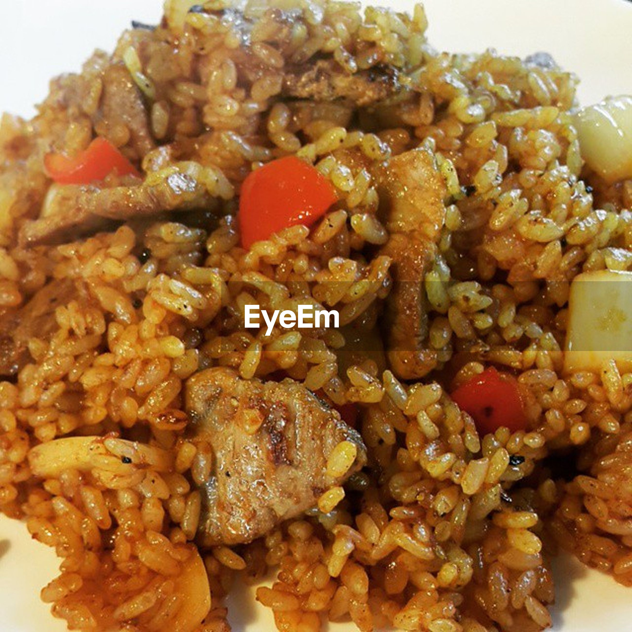 food and drink, food, ready-to-eat, meat, rice - food staple, plate, indoors, close-up, no people, healthy eating, freshness, day