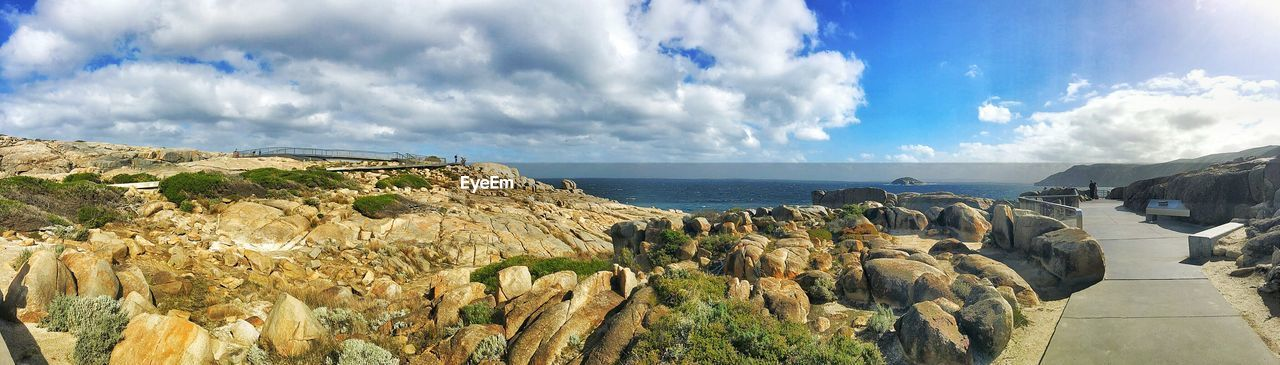 sea, cloud - sky, nature, sky, scenics, horizon over water, water, tranquil scene, rock - object, beauty in nature, tranquility, day, outdoors, no people