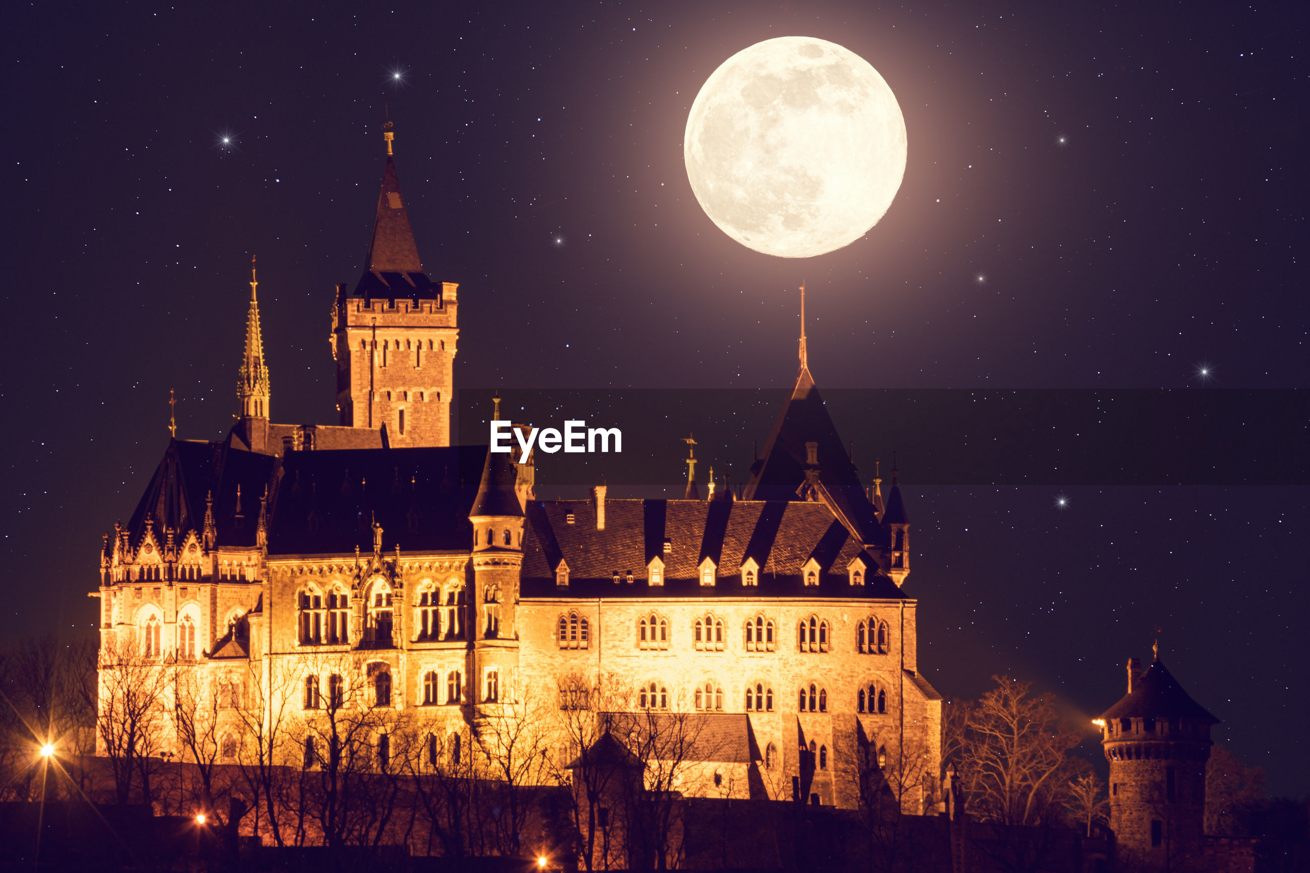 night, moon, architecture, building exterior, built structure, sky, space, astronomy, star, full moon, building, nature, illuminated, travel destinations, space and astronomy, city, history, the past, religion, no people, scenics - nature, travel, place of worship, outdoors, midnight, beauty in nature, tower, landscape, old