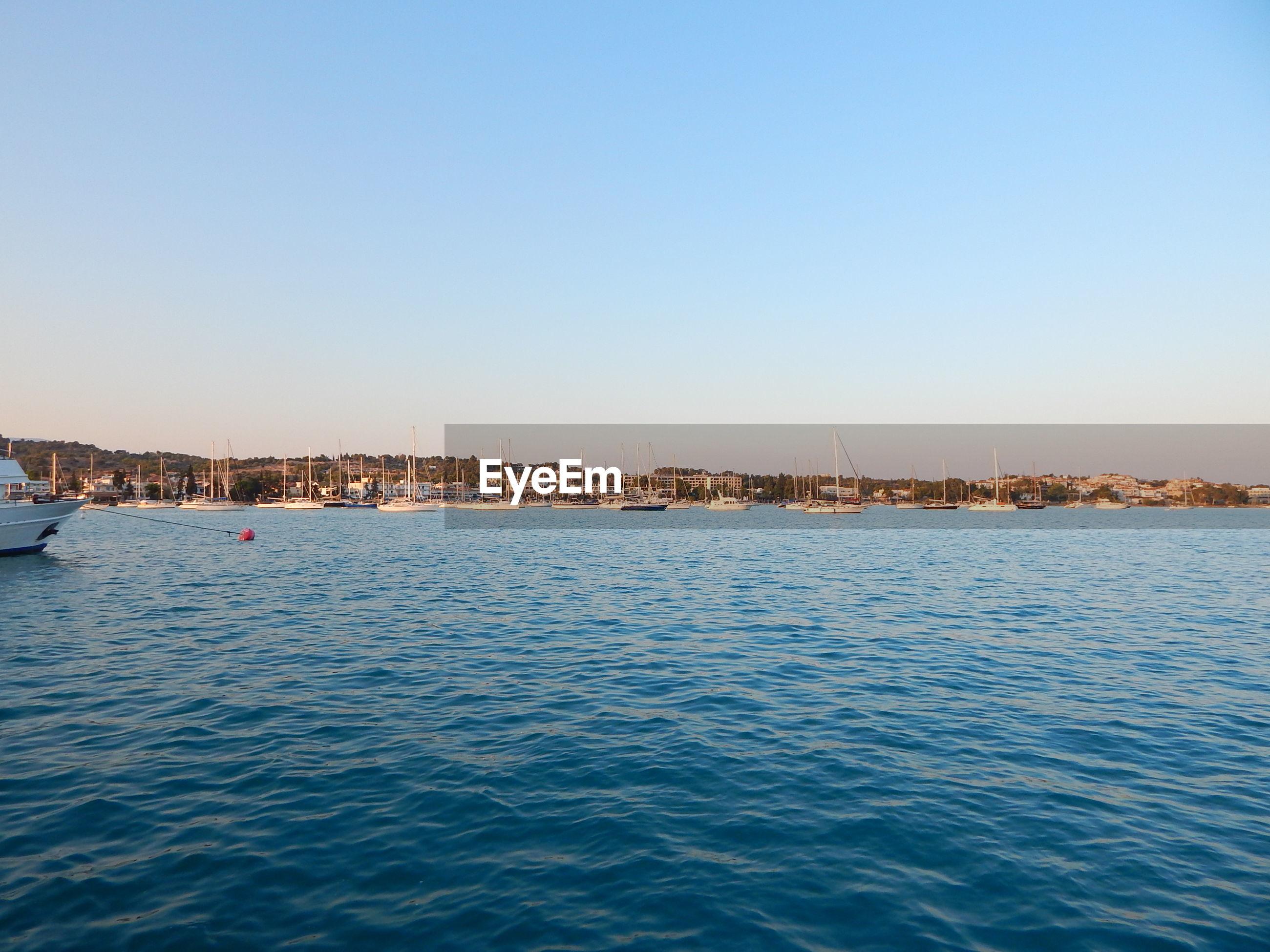 VIEW OF CALM BLUE SEA