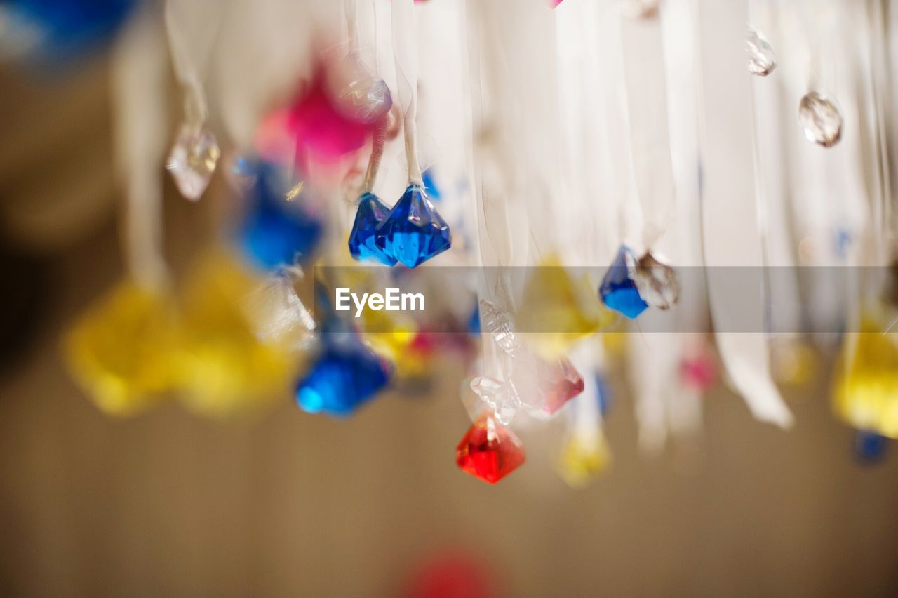 Low Angle View Of Decorations Hanging